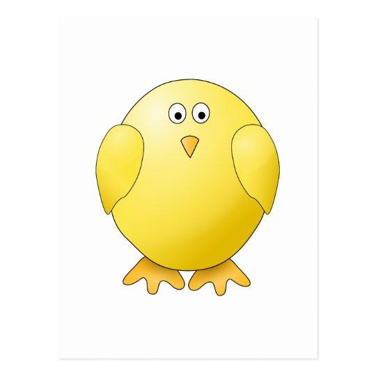 Cute Chick. Little Yellow Bird. Postcard