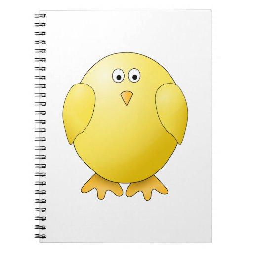 Cute Chick. Little Yellow Bird. Spiral Note Book