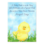 Cute Chick Neutral Baby Shower Invitation