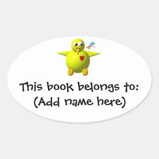 Cute chick oval sticker