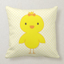 Cute chick throw pillow