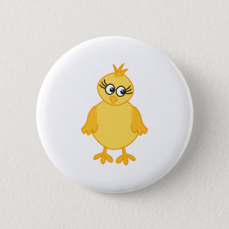 Cute Chick, Yellow Baby Bird. Pinback Button