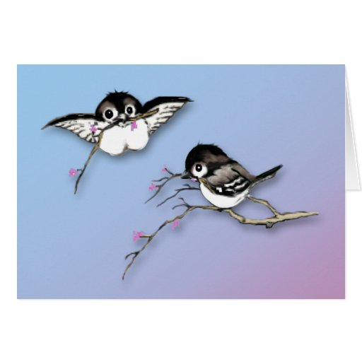 Cute Chickadees Card