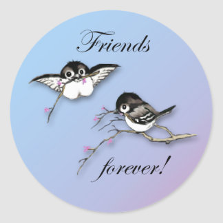 Cute Chickadees Friends Forever Stickers