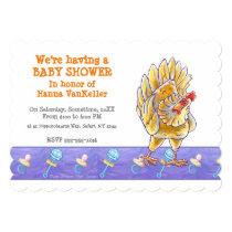 Cute Chicken Baby Shower Invitation