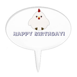Cute Chicken Cake Toppers