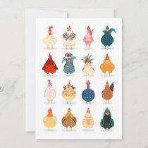 Cute Chicken Card