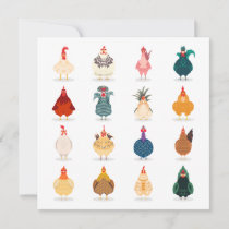 Cute Chicken Card