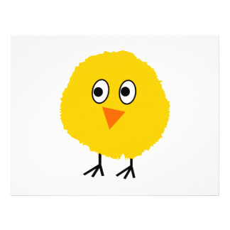 Cute chicken cartoon flyer