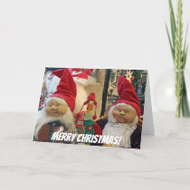 Cute Chicken Christmas Greeting Card! Holiday Card