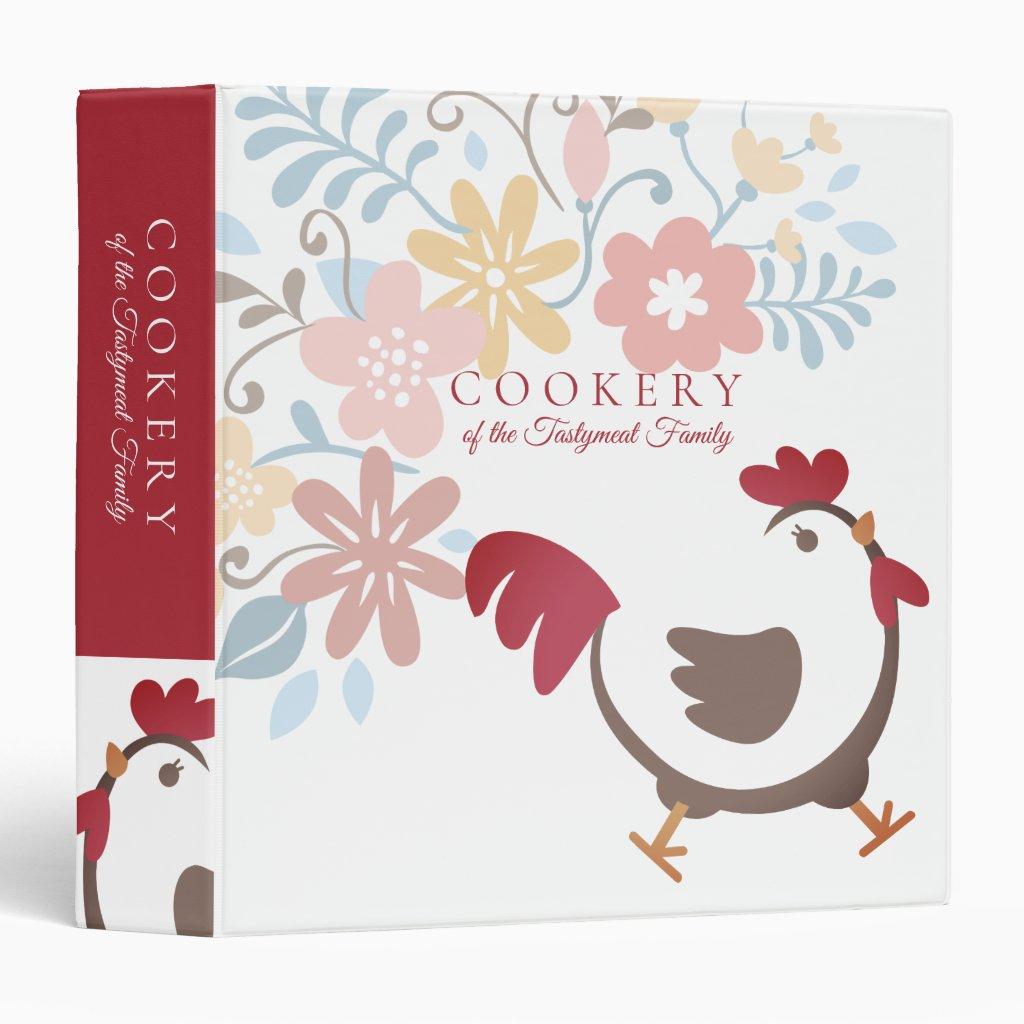 Cute family recipe cookbook 3 ring binder