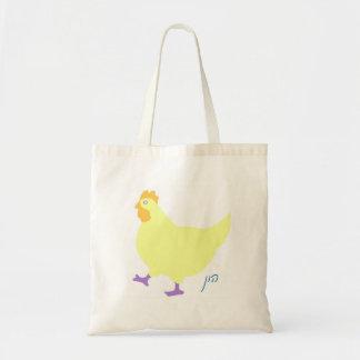 "Cute chicken-""hun"" in Yiddish Budget Tote Bag"