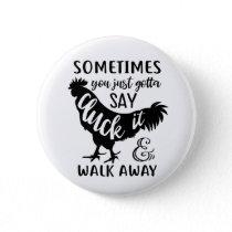 Cute Chicken Lover F Off Farm Farmer Rooster Button