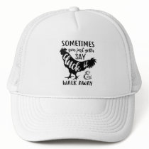 Cute Chicken Lover F Off Farm Farmer Rooster Trucker Hat
