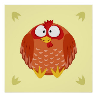 Cute chicken poster