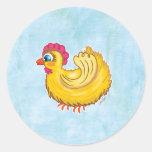 Cute Chicken round sticker