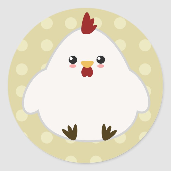 Cute Chicken Stickers Zazzle Com High quality cute chicken gifts and merchandise. cute chicken stickers zazzle com