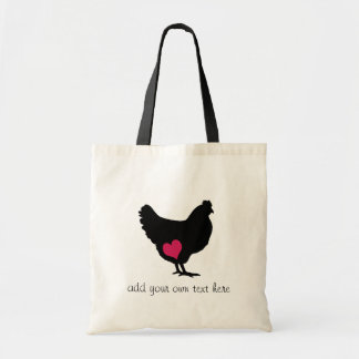 Cute Chicken with Pink Heart Bags