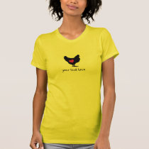 Cute Chicken with Pink Heart T-Shirt