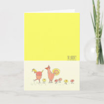 Cute Chickens Card For Mom from Family