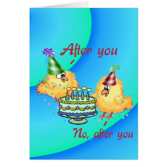 Cute Chicks Birthday card