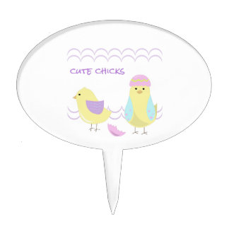 Cute Chicks Cake Pick