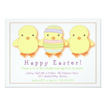 Cute Chicks Easter Egg Decoration Party Invitation
