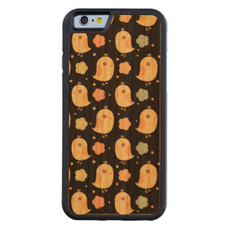 Cute Chicks & Flowers Pattern Carved® Cherry iPhone 6 Bumper