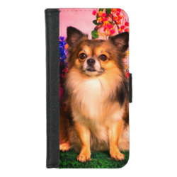iPhone 8/7 Wallet Case with Chihuahua Phone Cases design