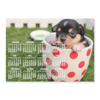 Cute Chihuahua Calendar 2019 Magnetic Card 5x7