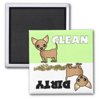 Cute Chihuahua Clean / Dirty Dishwasher Magnet
