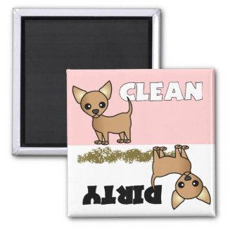 Cute Chihuahua Clean / Dirty Dishwasher Magnet
