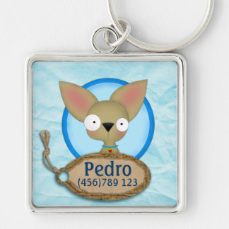 Cute Chihuahua Dog ID Tag Keychain