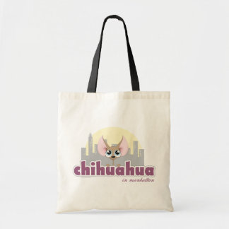 Cute Chihuahua in Manhattan Dog Tote Bag