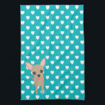 "Cute Chihuahua Kitchen Towel<br><div class=""desc"">A cute chihuahua designed by PreciousTees with love:) &#169;PreciousTees</div>"