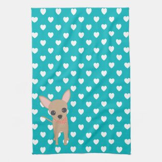 Cute Chihuahua Kitchen Towel at Zazzle