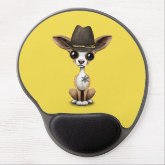 Cute Chihuahua Puppy Sheriff Gel Mouse Pad