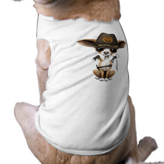 Cute Chihuahua Puppy Zombie Hunter Tee