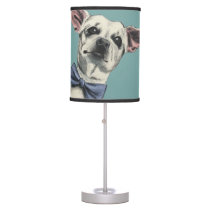 Cute Chihuahua with Bow Tie Drawing Desk Lamp