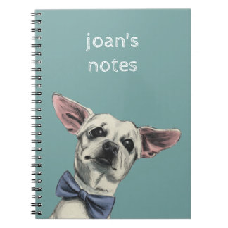 Cute Chihuahua with Bow Tie Drawing Notebook