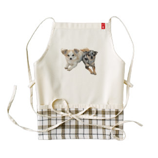 Cute Chihuahua Zazzle Heart Apron