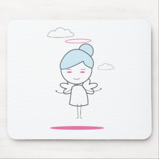 cute child angel mouse pad