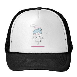 cute child angel trucker hat
