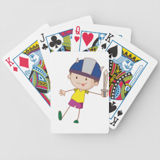 Cute child illustration bicycle playing cards