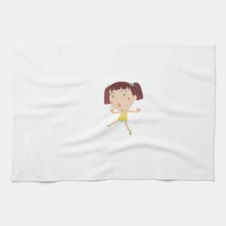 Cute child illustration towels