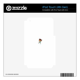Cute child illustration iPod touch 4G skin