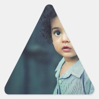 Cute Child Triangle Sticker