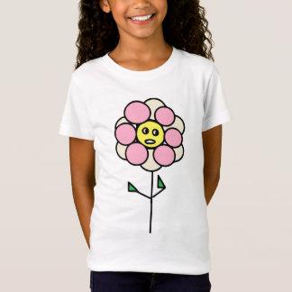 Cute Childish Flower Design Girl's T-Shirt
