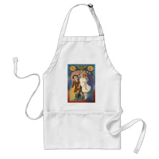 Cute Children Black Cat Bobbing For Apples Adult Apron