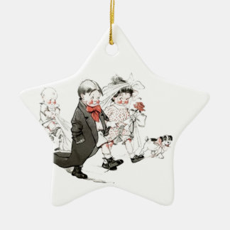 Cute Children Doing The Wedding March Christmas Tree Ornaments
